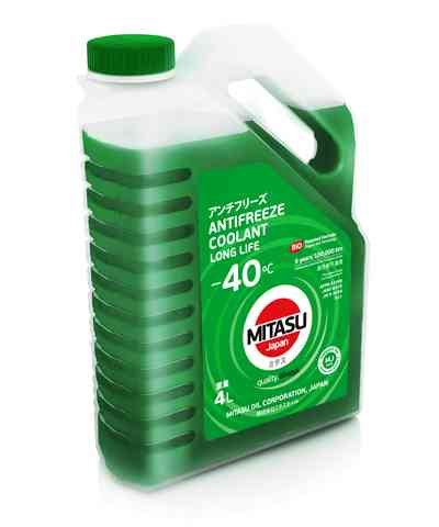 Купить запчасть MITASU - MJ6424 Антифриз MITASU GREEN LONG LIFE ANTIFREEZE/COOLANT -40C 4л MJ-642 (1/4) Япония