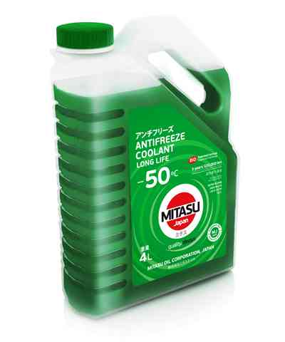 Купить запчасть MITASU - MJ6524 Антифриз MITASU GREEN LONG LIFE ANTIFREEZE/COOLANT -50C 4л MJ-652 (1/4) Япония